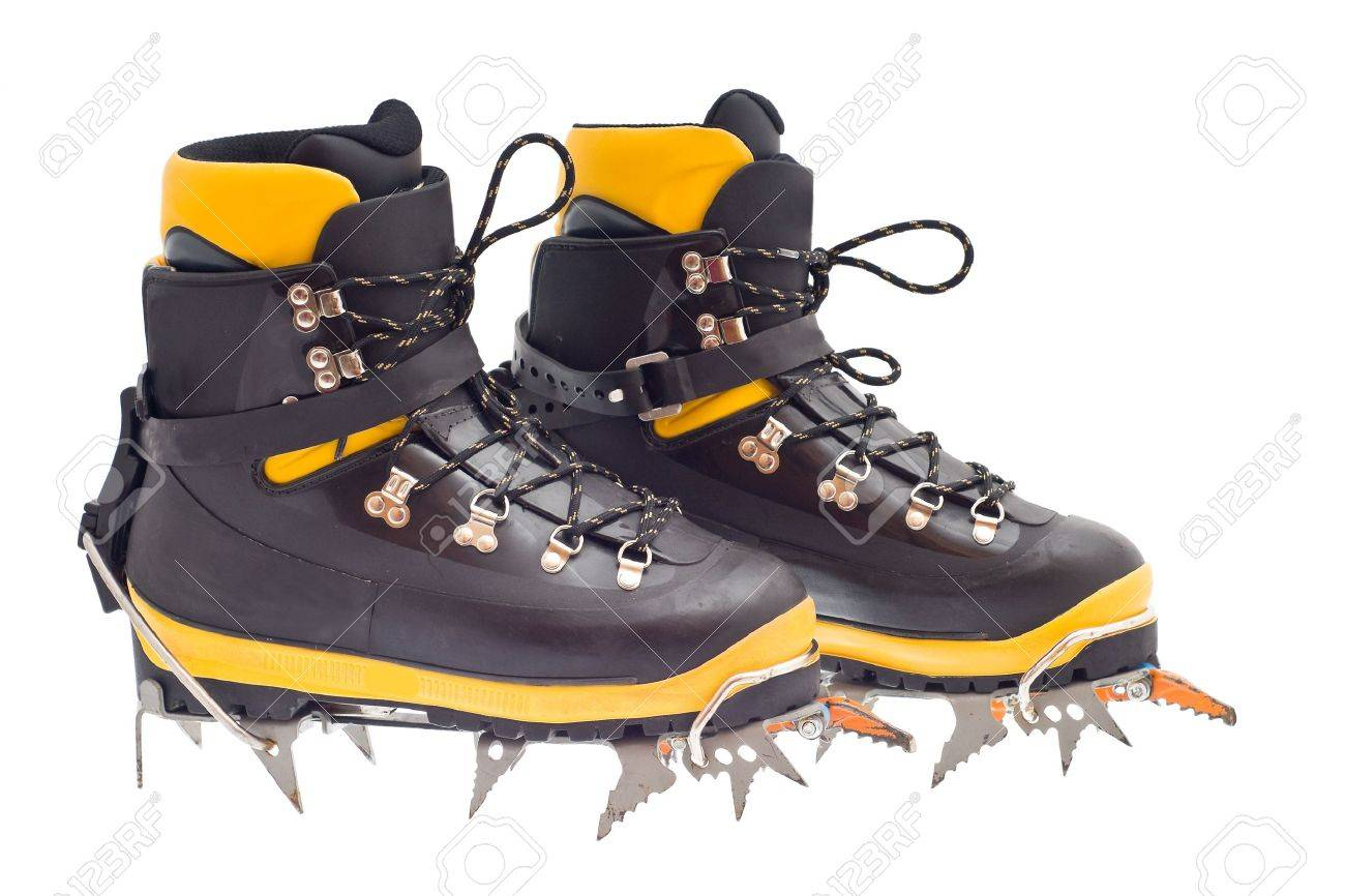 79ca2a26fa9 pair of the high mountain boots with crampons
