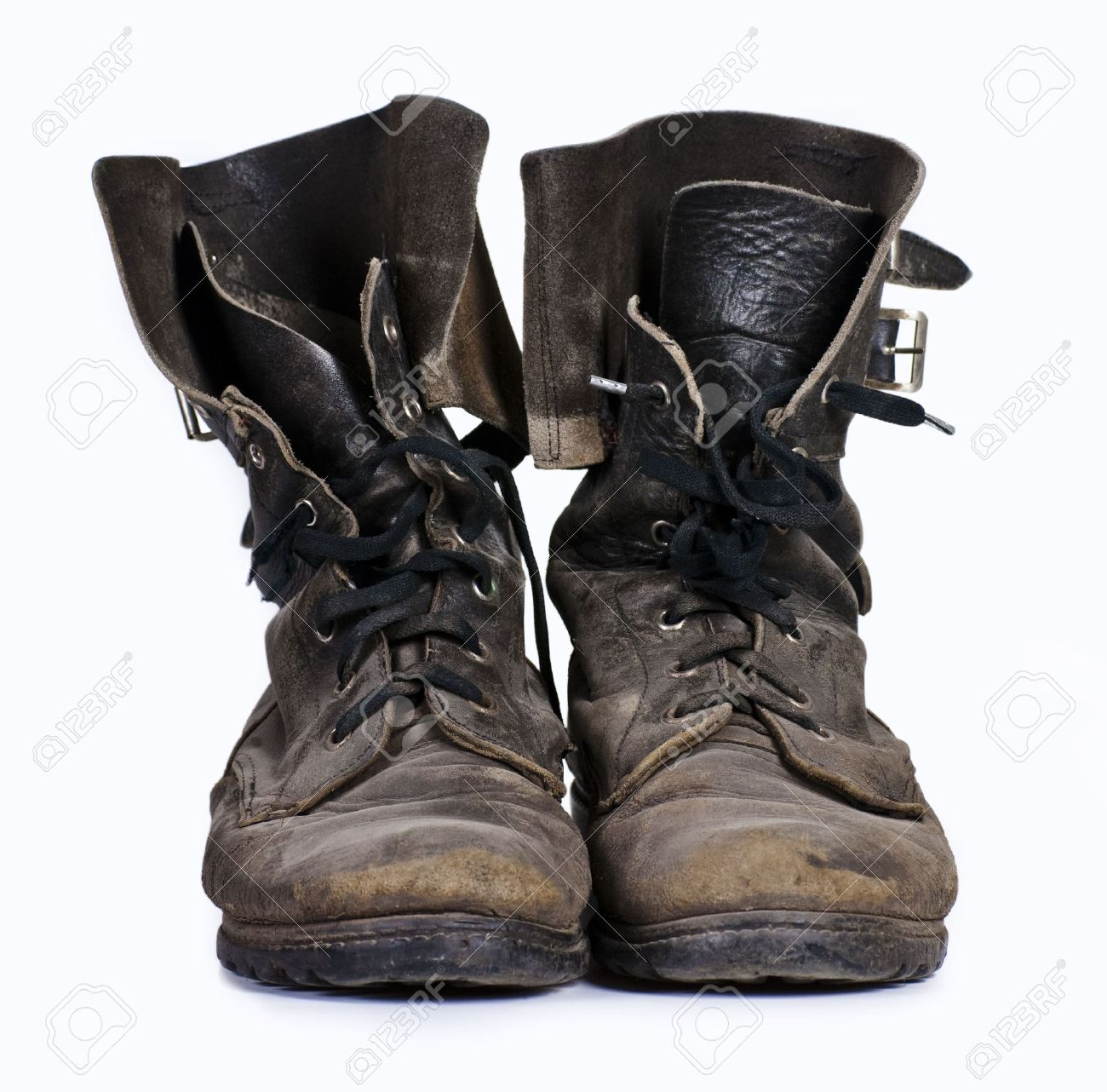 e95c0447b2d8 Old Army Boots Stock Photo