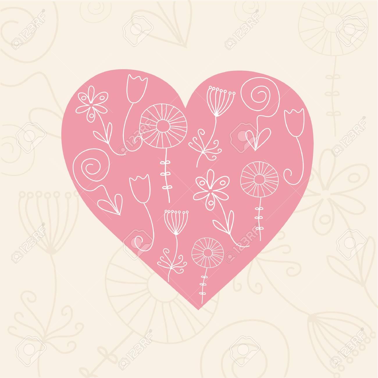 Heart card. Stock Vector - 6410705