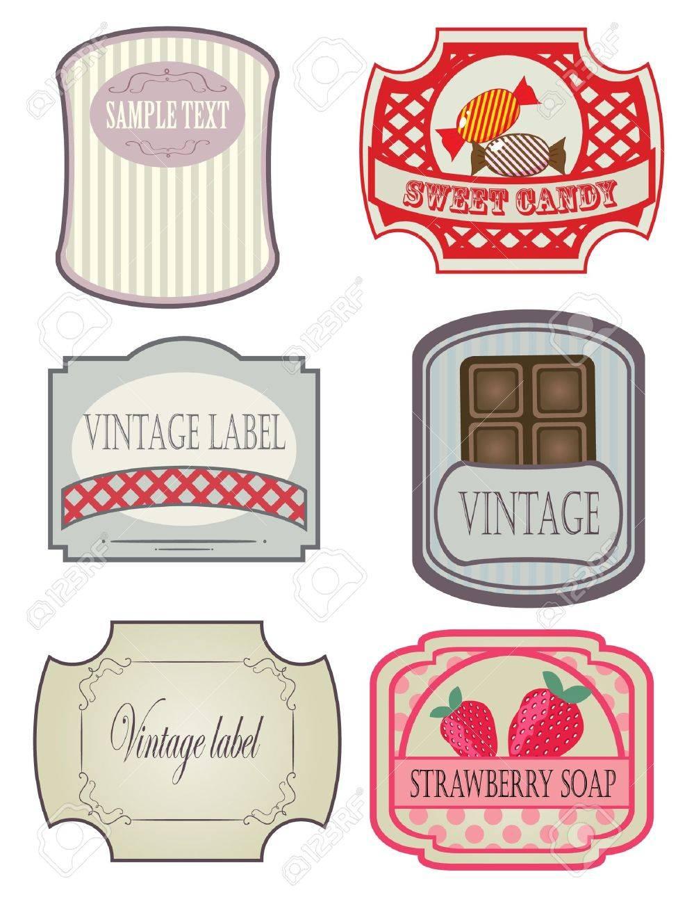 Vintage labels set Stock Vector - 7706986