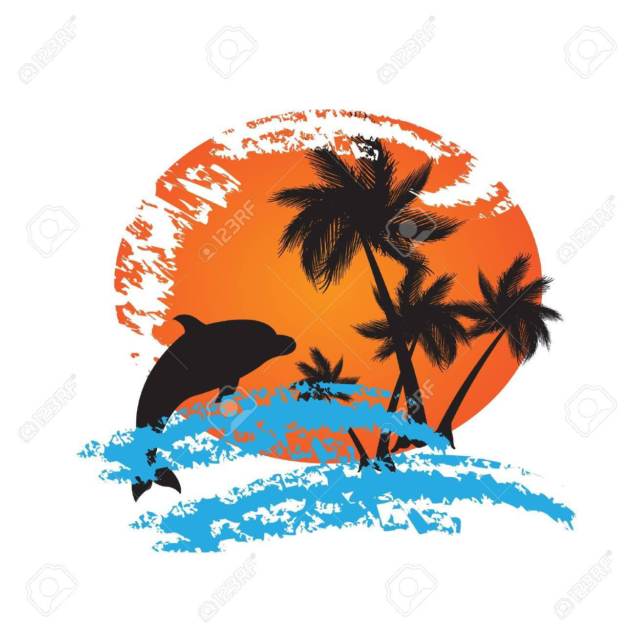 Holiday background with palms Stock Vector - 7705545