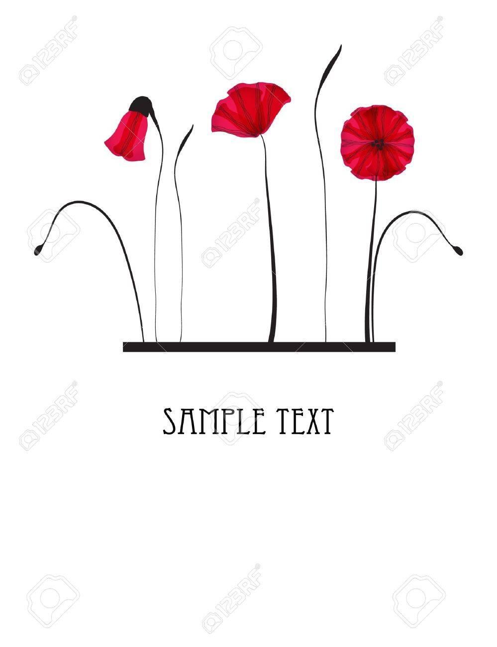Red poppy flowers Stock Vector - 7705573