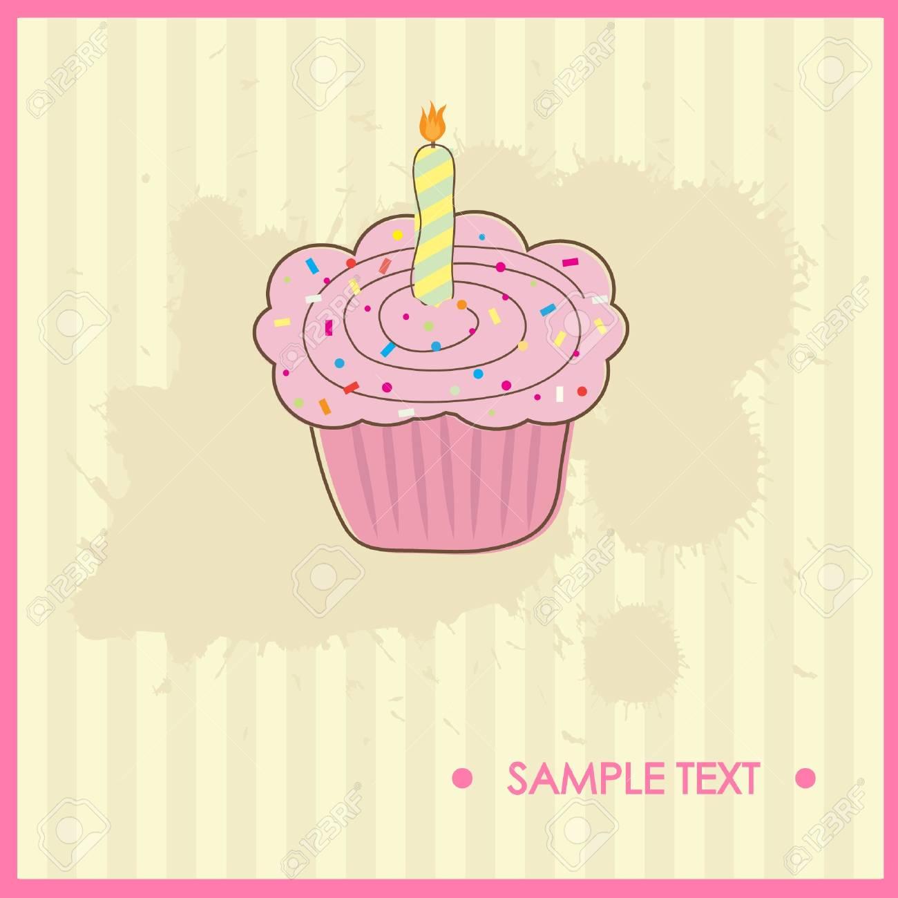 Cupcake card Stock Photo - 7763642