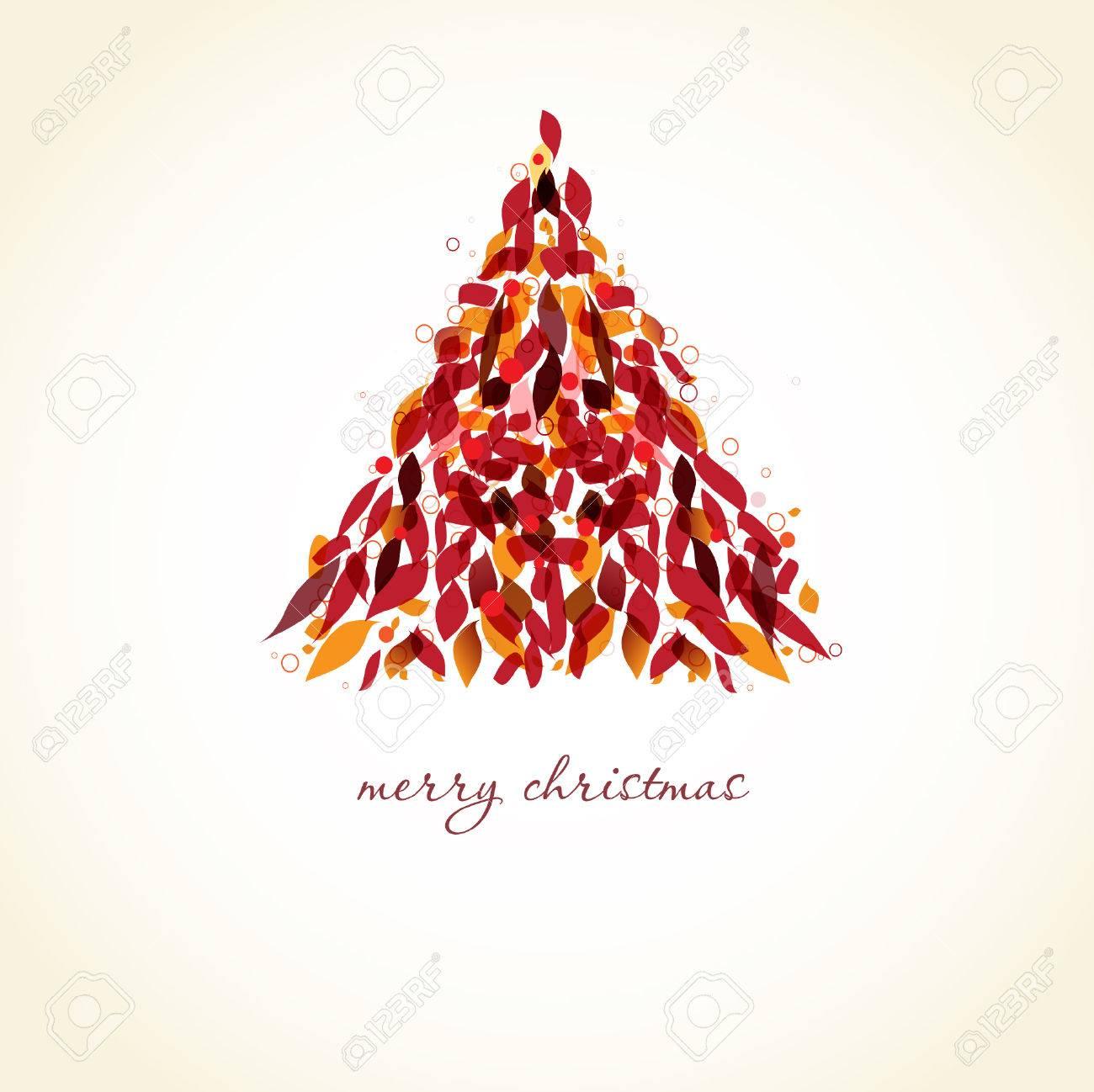 Abstract xmas tree.  christmas card Stock Vector - 8268289