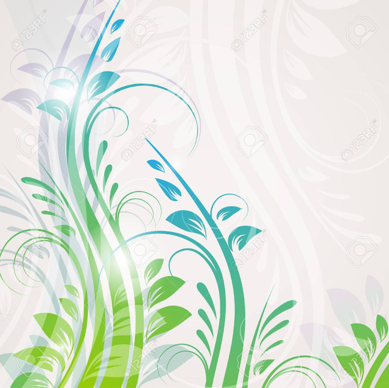 Abstract blue floral background Stock Vector - 8268761