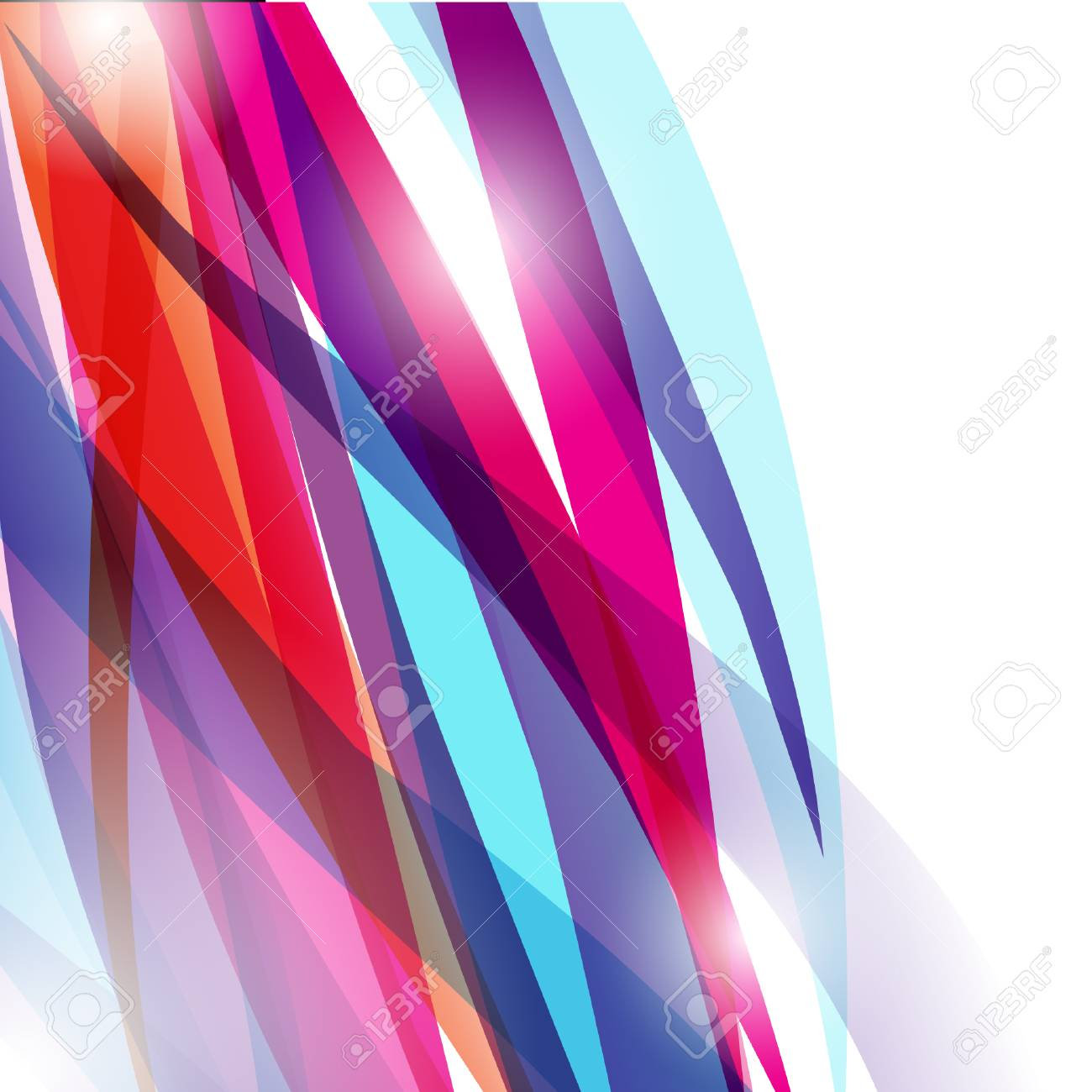 Abstract futuristic background with flowers and lines Stock Vector - 9295720