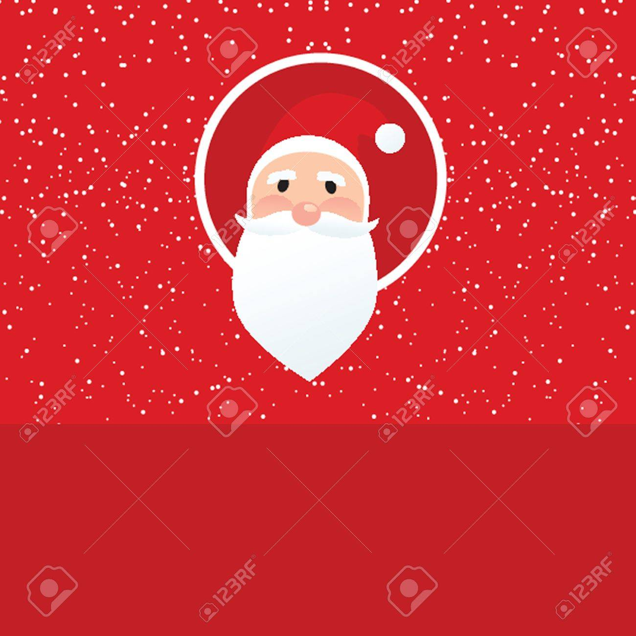 Christmas card with Santa Klaus face Stock Vector - 19093521