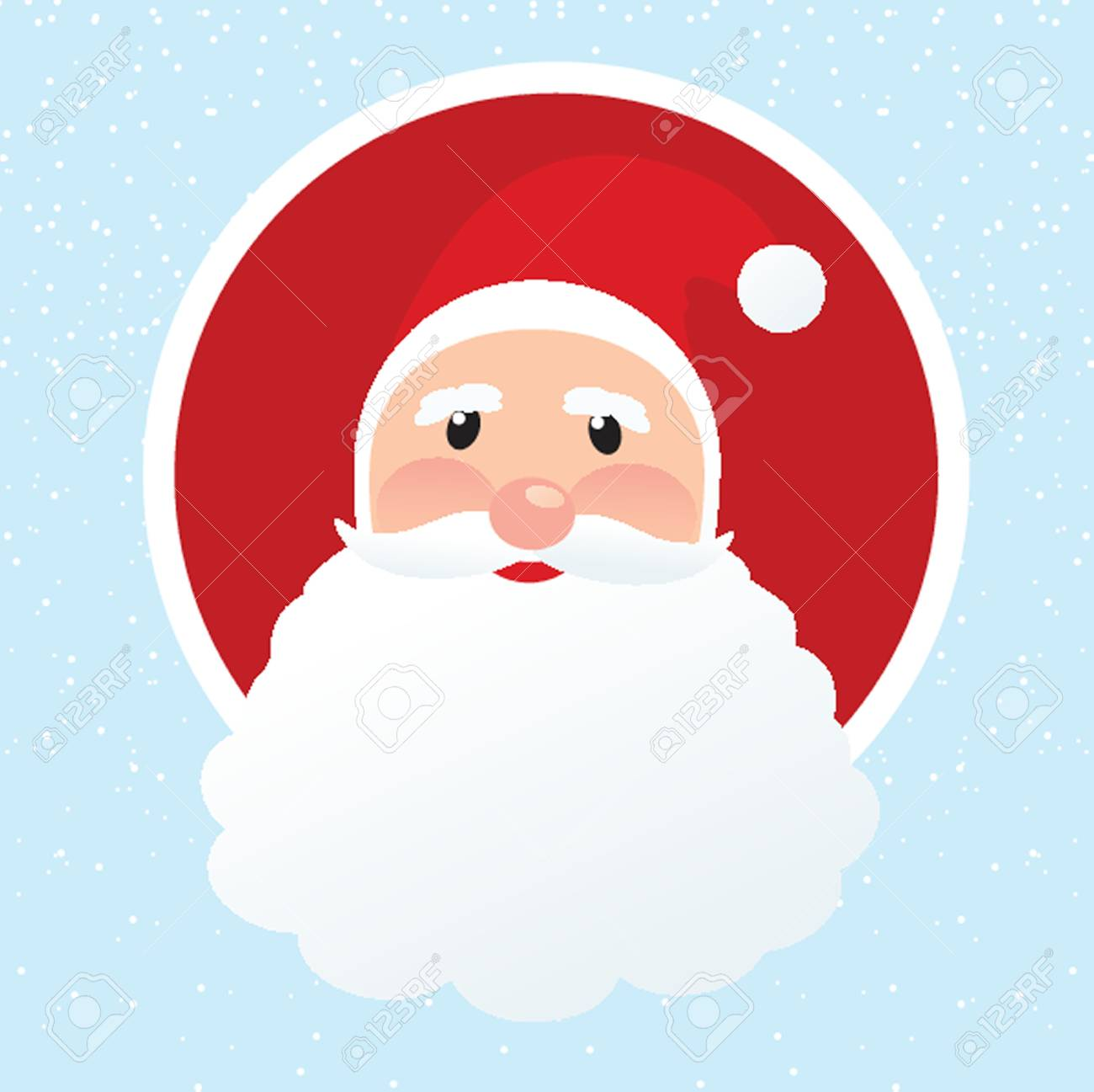 Christmas card with Santa Klaus face Stock Vector - 19218107