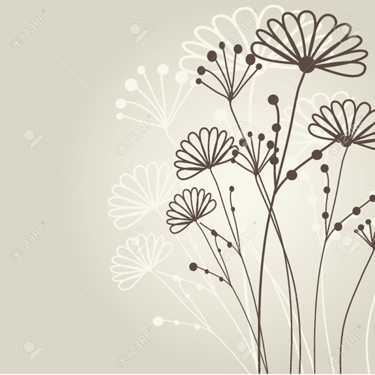 Vintage greeting card with hand drawn flowers royalty free vintage greeting card with hand drawn flowers stock vector 19862083 ccuart Image collections