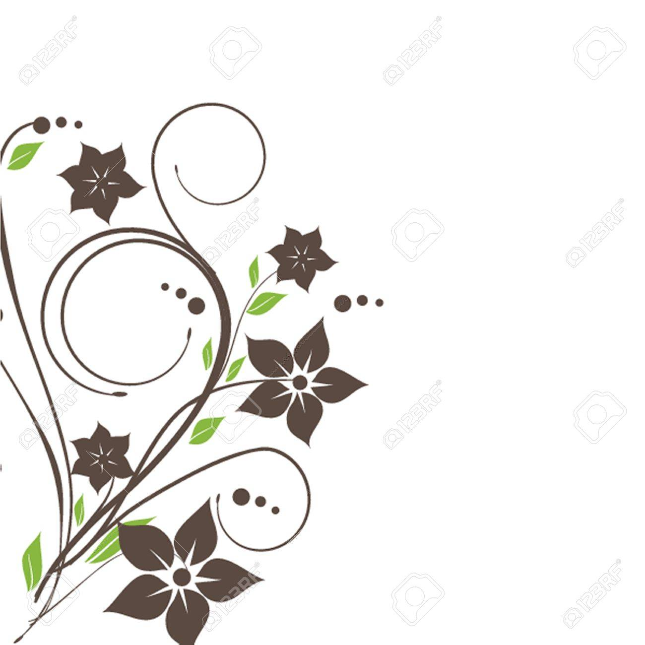 Vintage greeting card with hand drawn flowers Stock Vector - 19916778