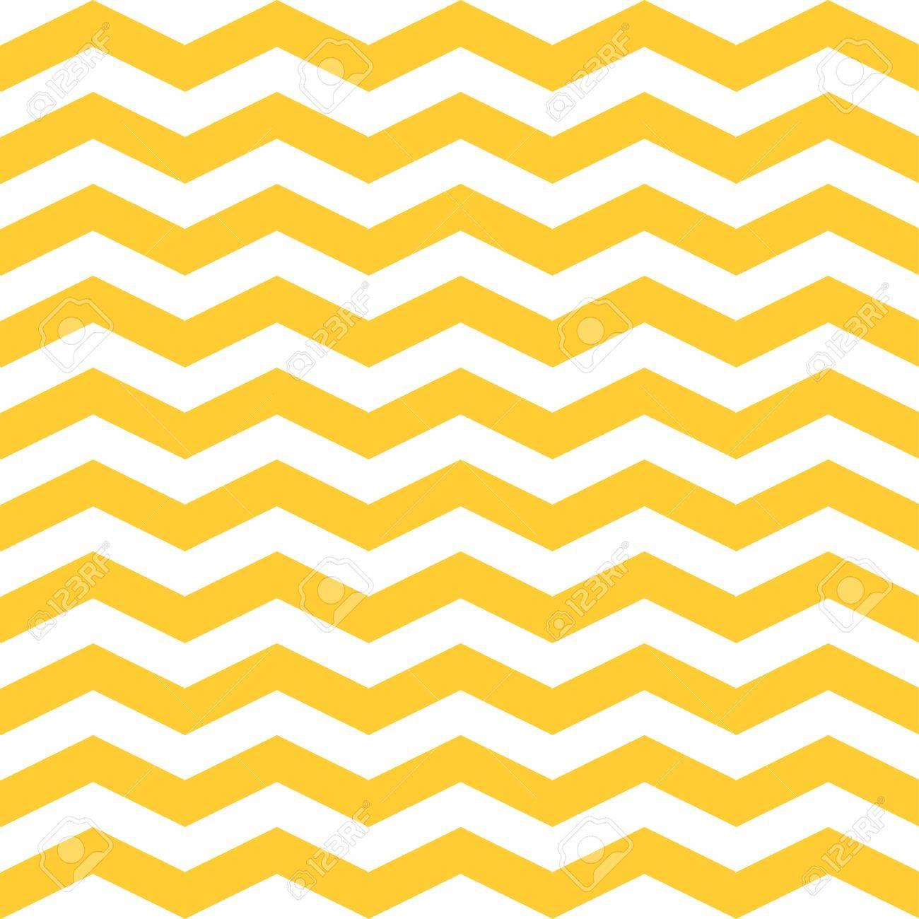 Nahtlose Zickzack Zickzack Muster. Gelbe Und Weiße Vektor ...