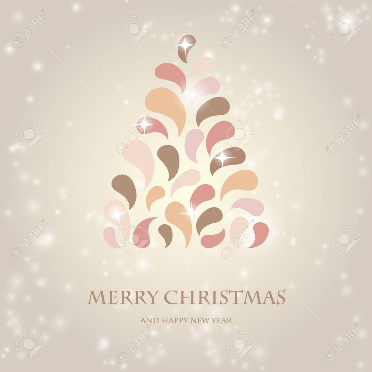 Colores Pastel De La Vendimia Del Diseño Del árbol De Navidad ...