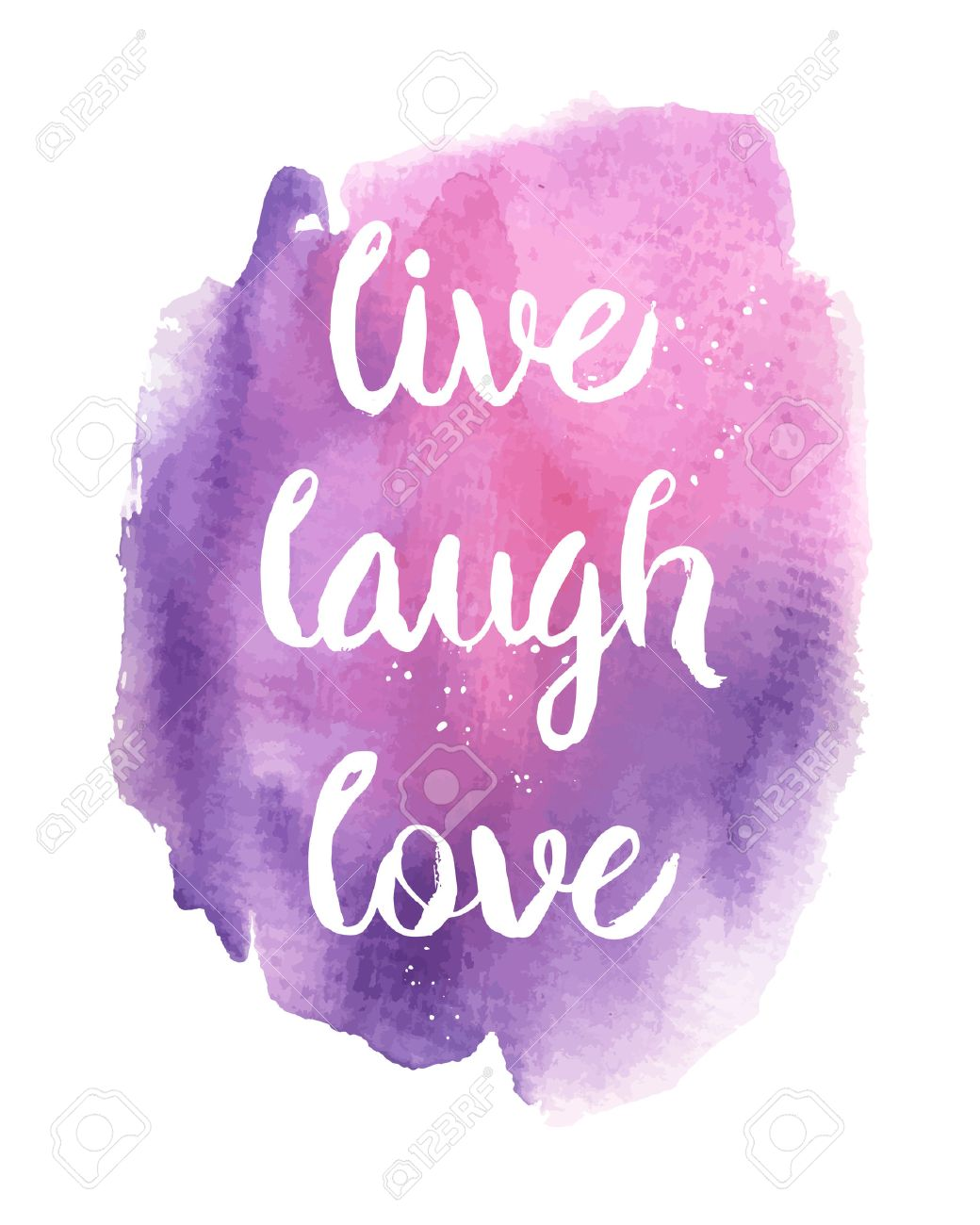 Live, Laugh, Love. Inspirational motivational quote. Vector ink..
