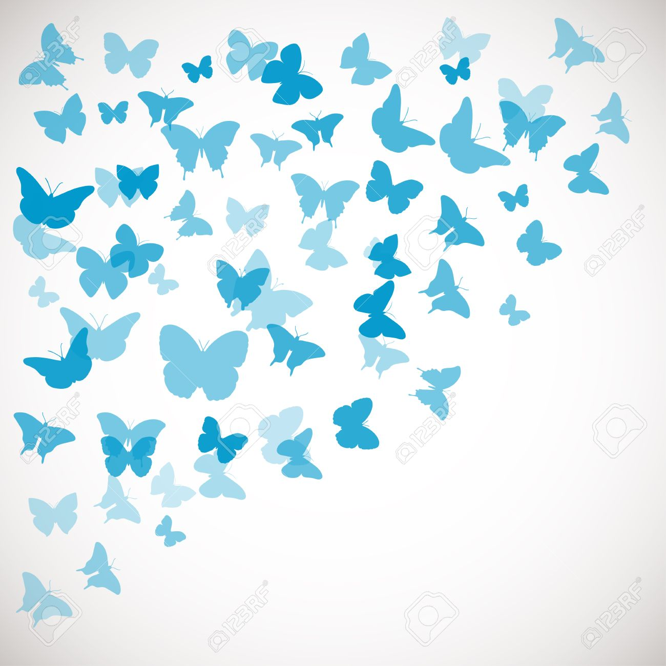 Abstract Butterfly Background. Vector Illustration Of Blue ...