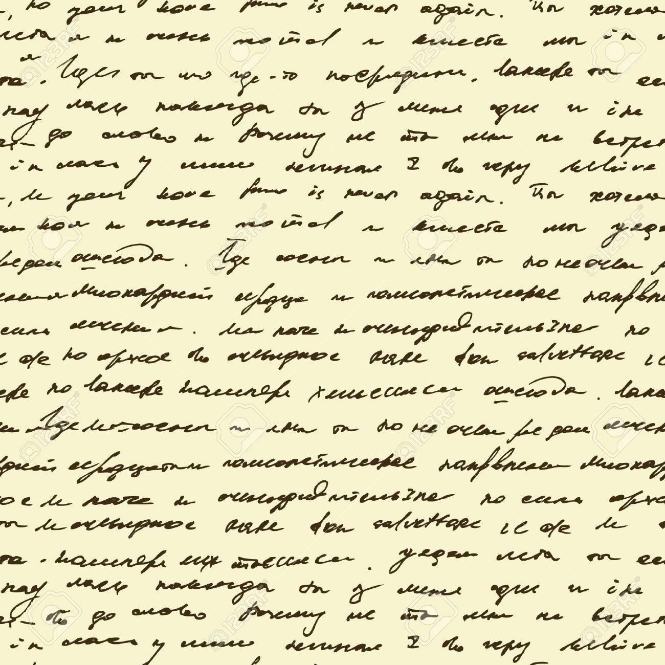 Patrón Sin Fisuras Con El Texto De Escritura A Mano. Resumen ...