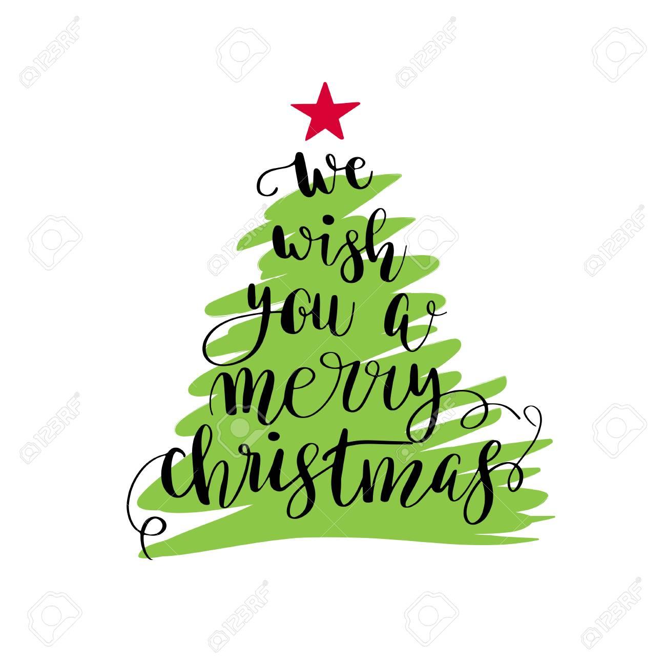 Le Deseamos Una Feliz Navidad. Cartel De Navidad O Diseño De La ...