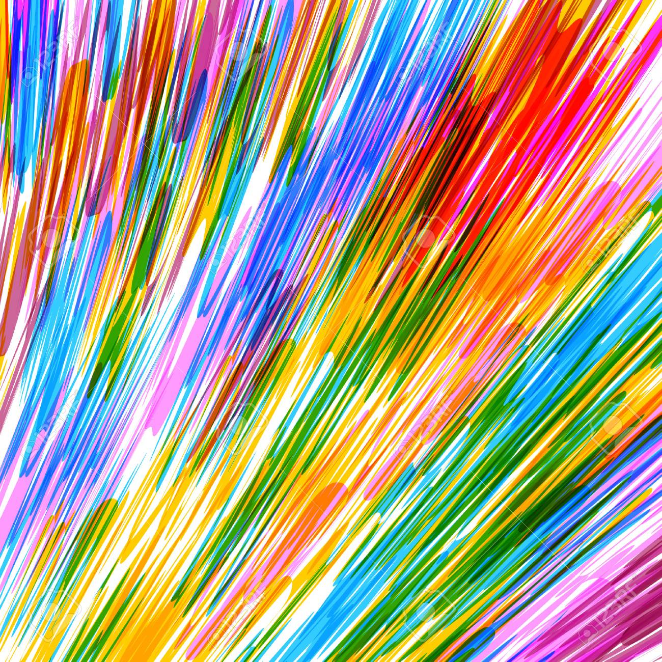 Colorful Rainbow Lines Background Rainbow Colored Abstract Vector