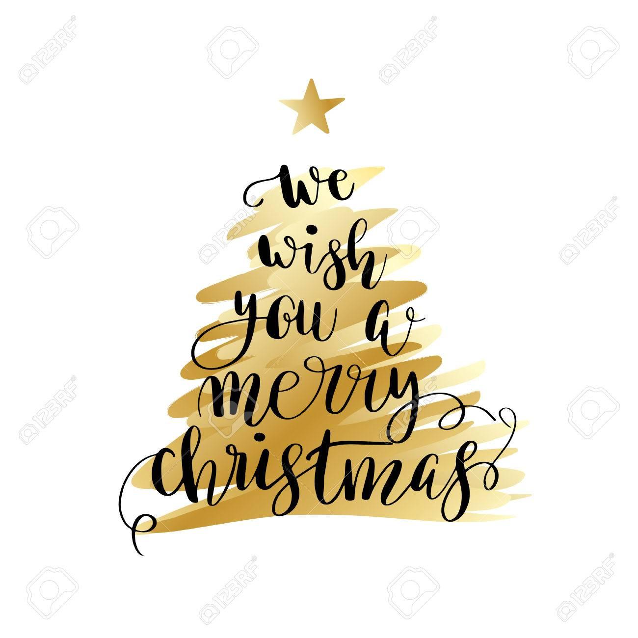 Wir Wünschen Dir Frohe Weihnachten.Stock Photo