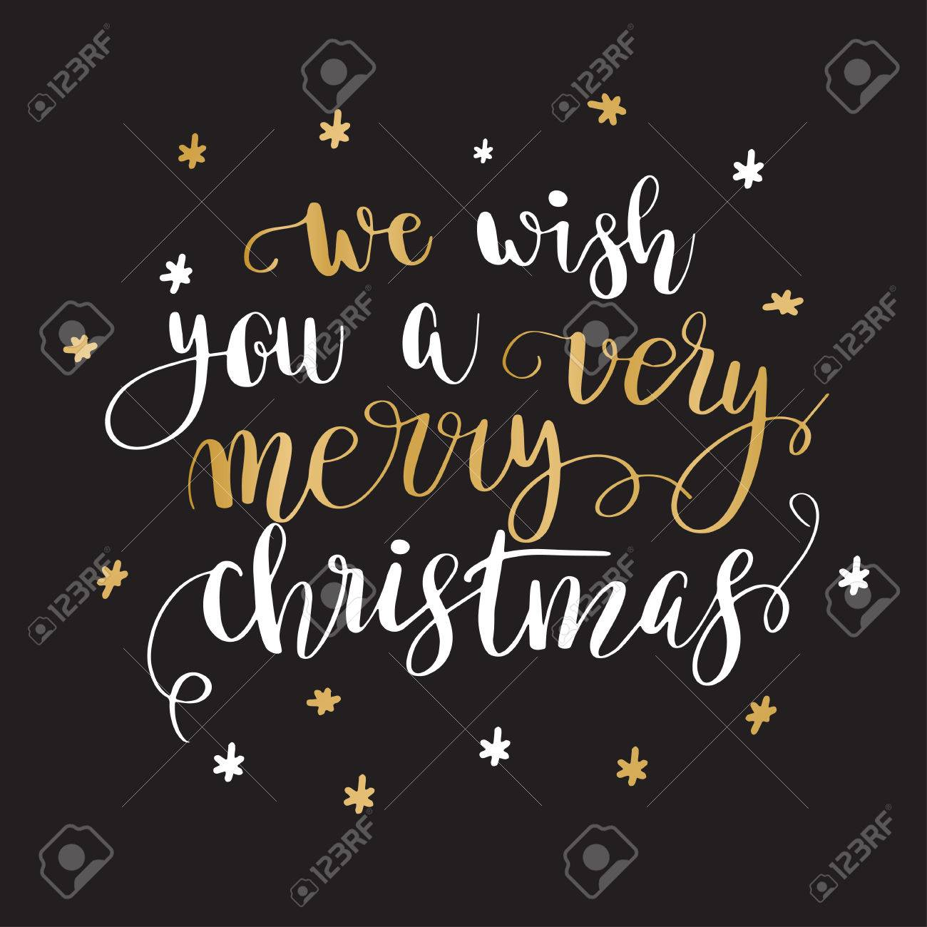 We Wish You A Very Merry Christmas Christmas Greeting Card With