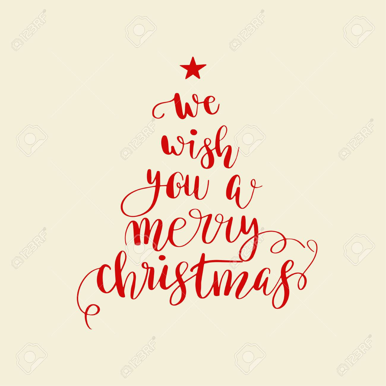 We Wish You A Merry Christmas Christmas Poster Or Greeting Card