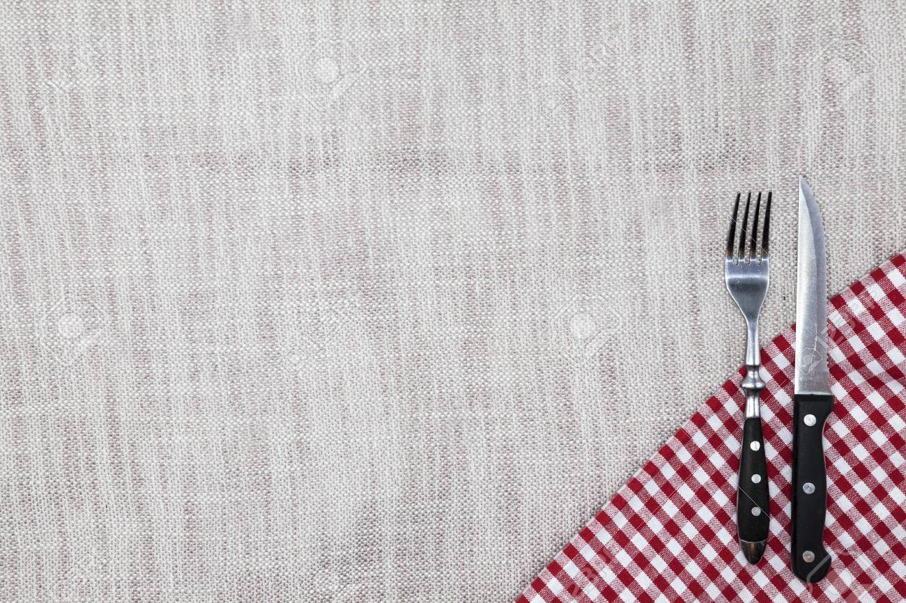 the background to create the restaurant s menu linen tablecloth