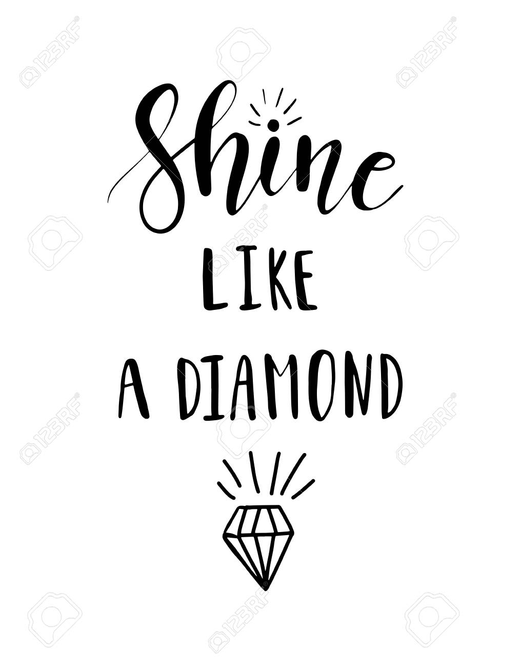 diamond lettering vector nude inspiration like bright stock pink quote photo hand template shine on background a