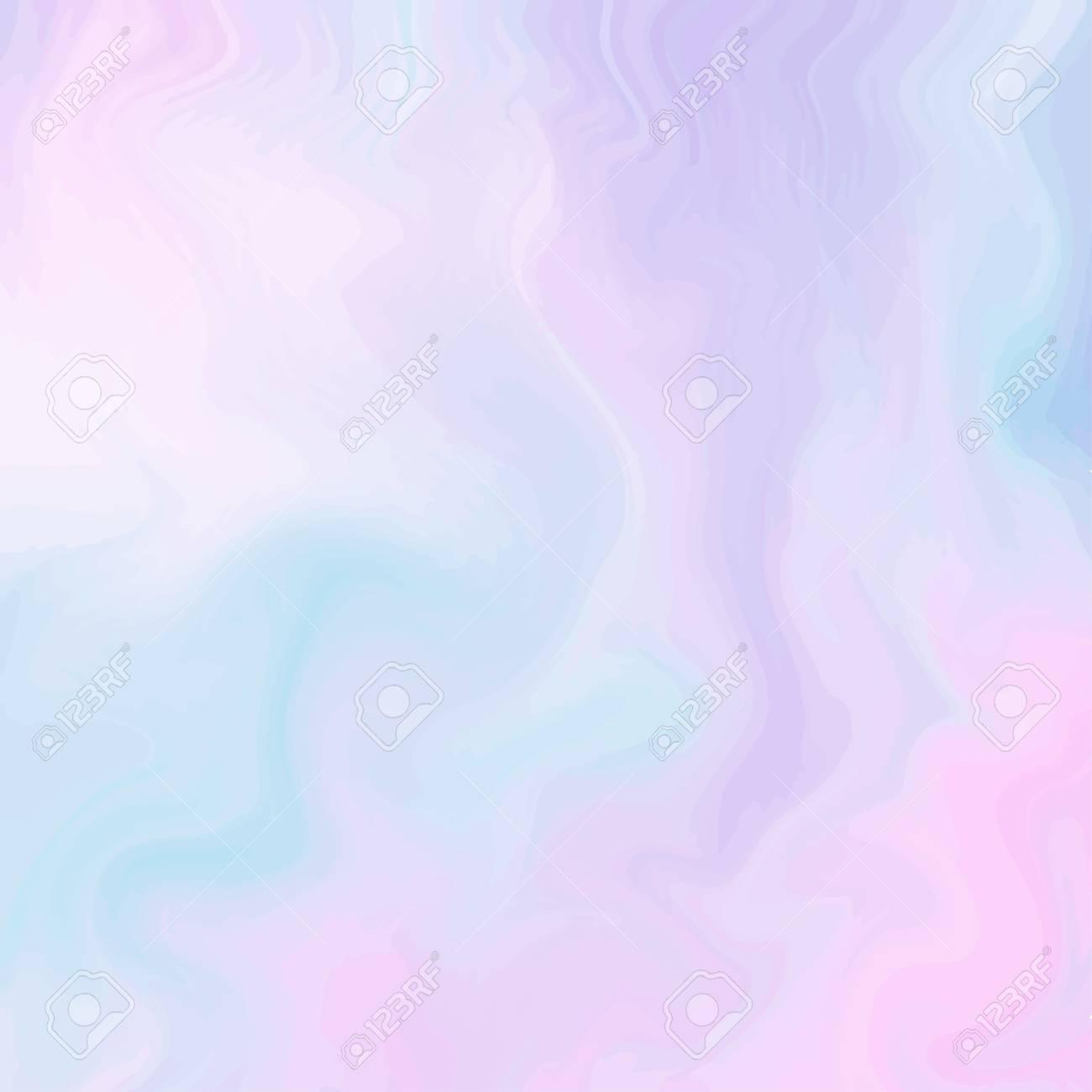 Magic Fairy and Unicorn background with light pastel rainbow