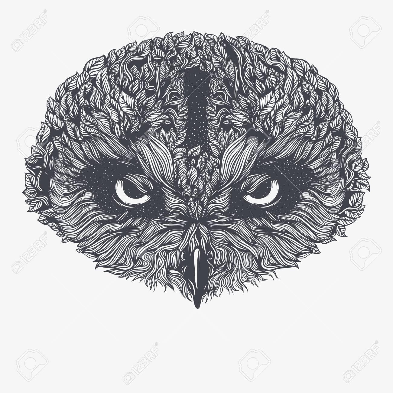 Abstract Owl. Vector Illustration Standard-Bild - 83613869