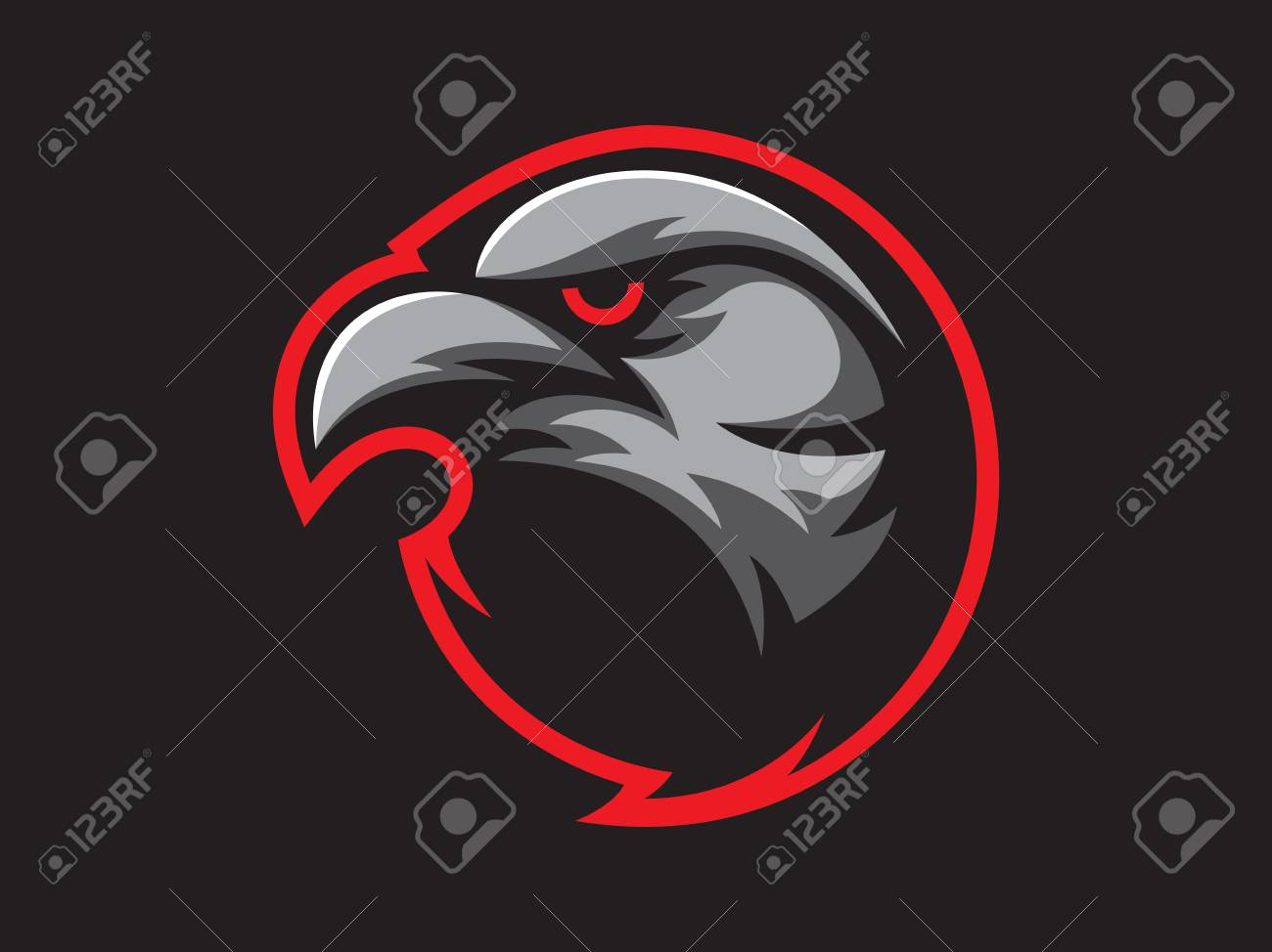 Black Crow Mascot Design For Logo. Sports Branding. Crow Head ...