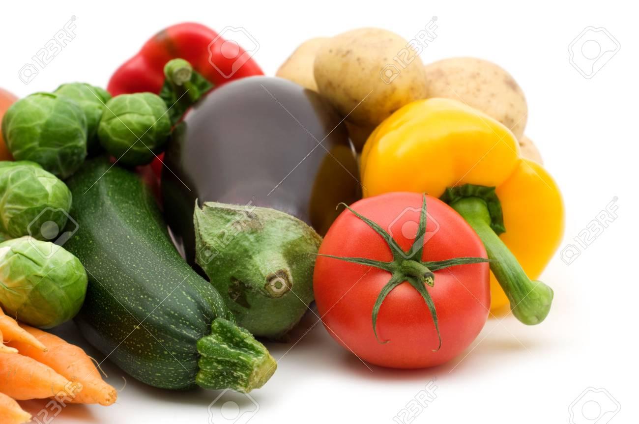 fresh vegetables on white background Stock Photo - 3652799
