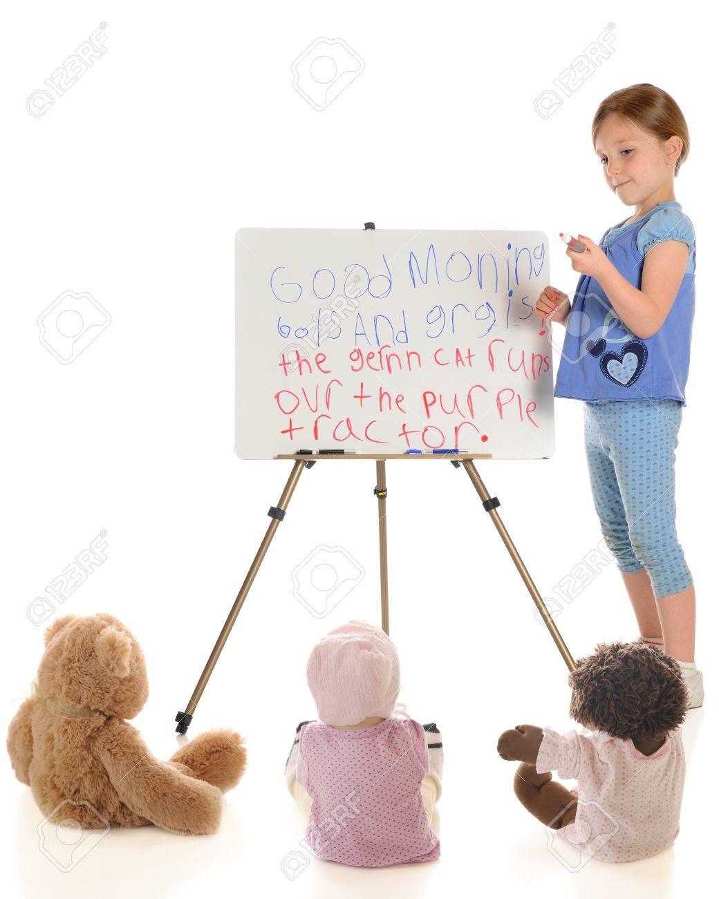 Elementary Students White Background