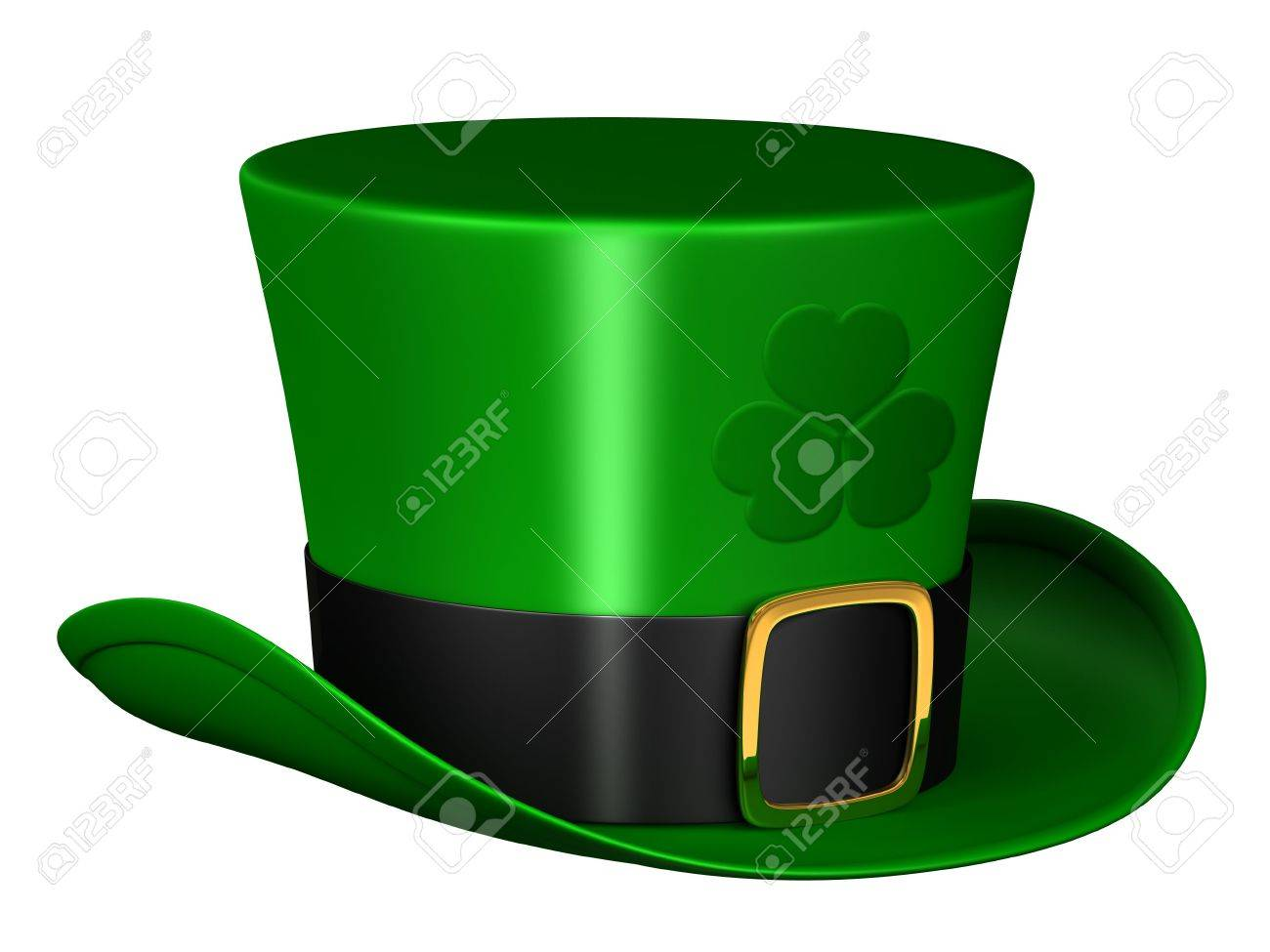 A render of an isolated leprechaun hat Stock Photo - 6532685