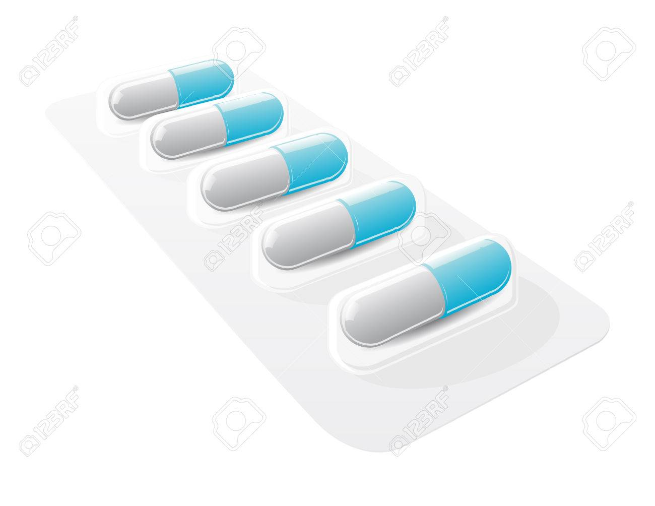 pill blister with gel capsules Stock Vector - 7747754