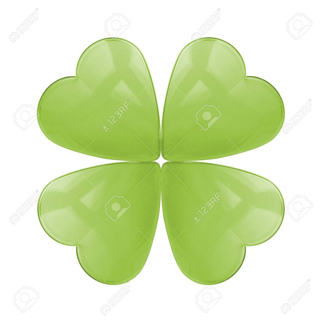 An isolated reflective glass four leaf clover Stock Photo - 8813652