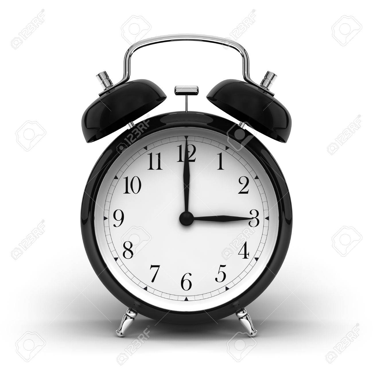 a render of a vintage alarm clock stock photo