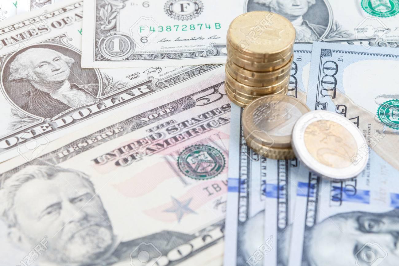 Multiple Scattered American 100 Dollar Banknotes In Full Frame ...