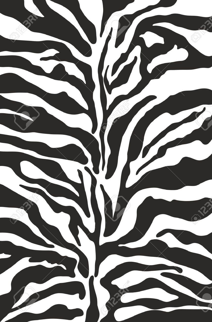 Zebra Patterned Wallpaper - Vector zebra print background pattern