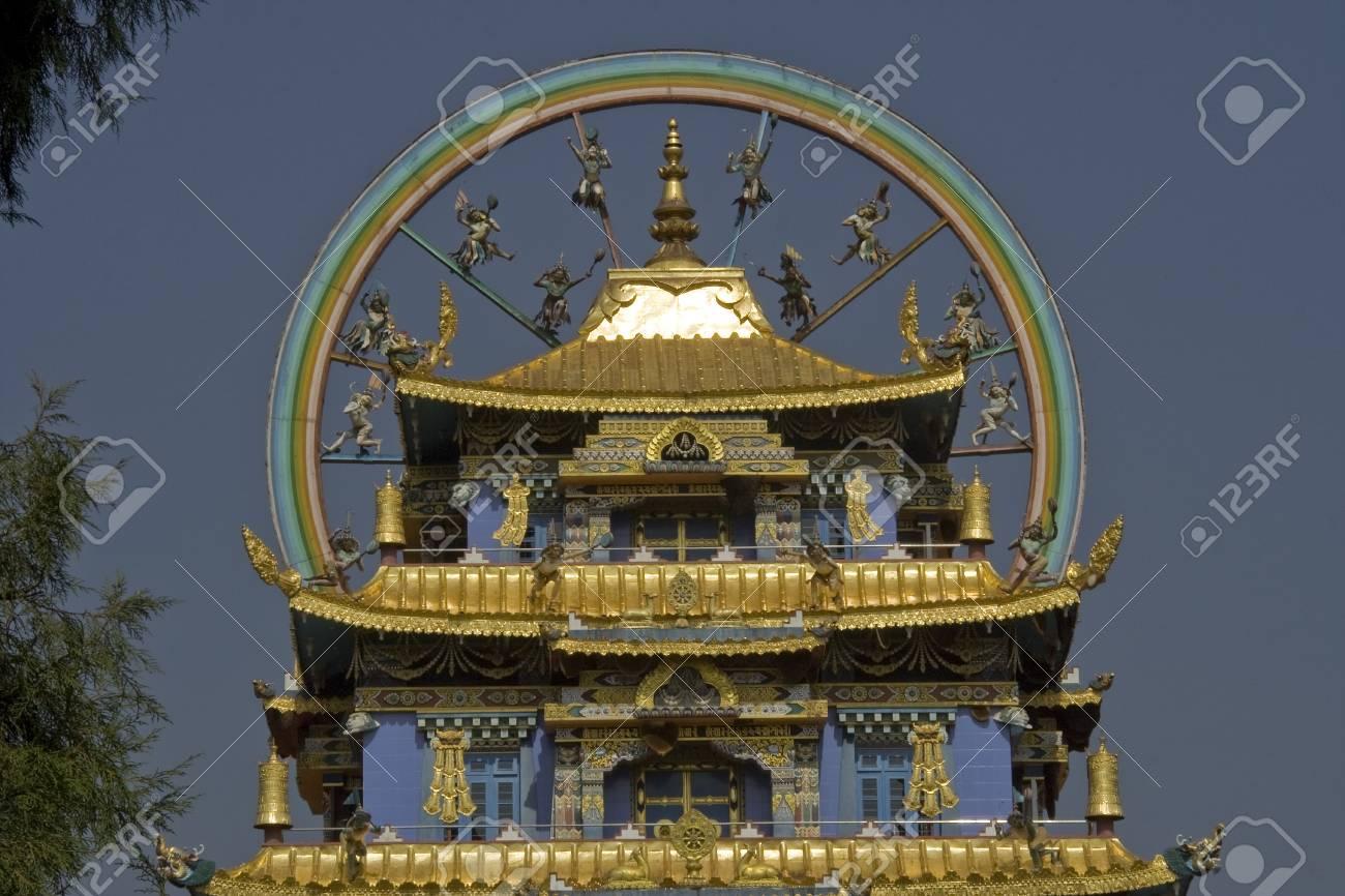 Namdroling Monastery  Golden Temple Stock Photo - 18000330