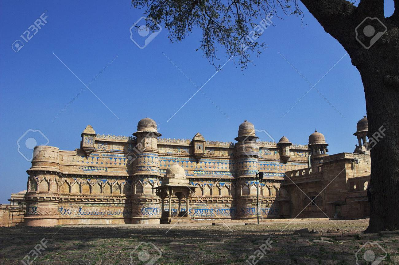 Encadrée Vue Pittoresque De Fort De Gwalior à Gwalior Madhya