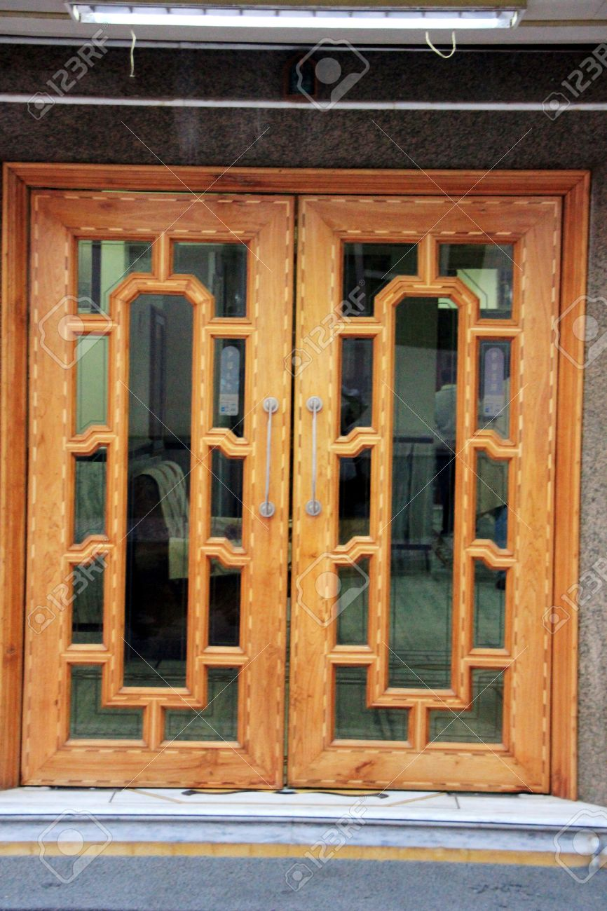 beautiful good looking wooden window frame fitted with transparent glass stock photo 40588302 - Wooden Window Frames