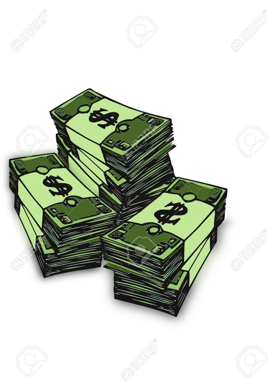 Bundle of bills Stock Photo - 6500732