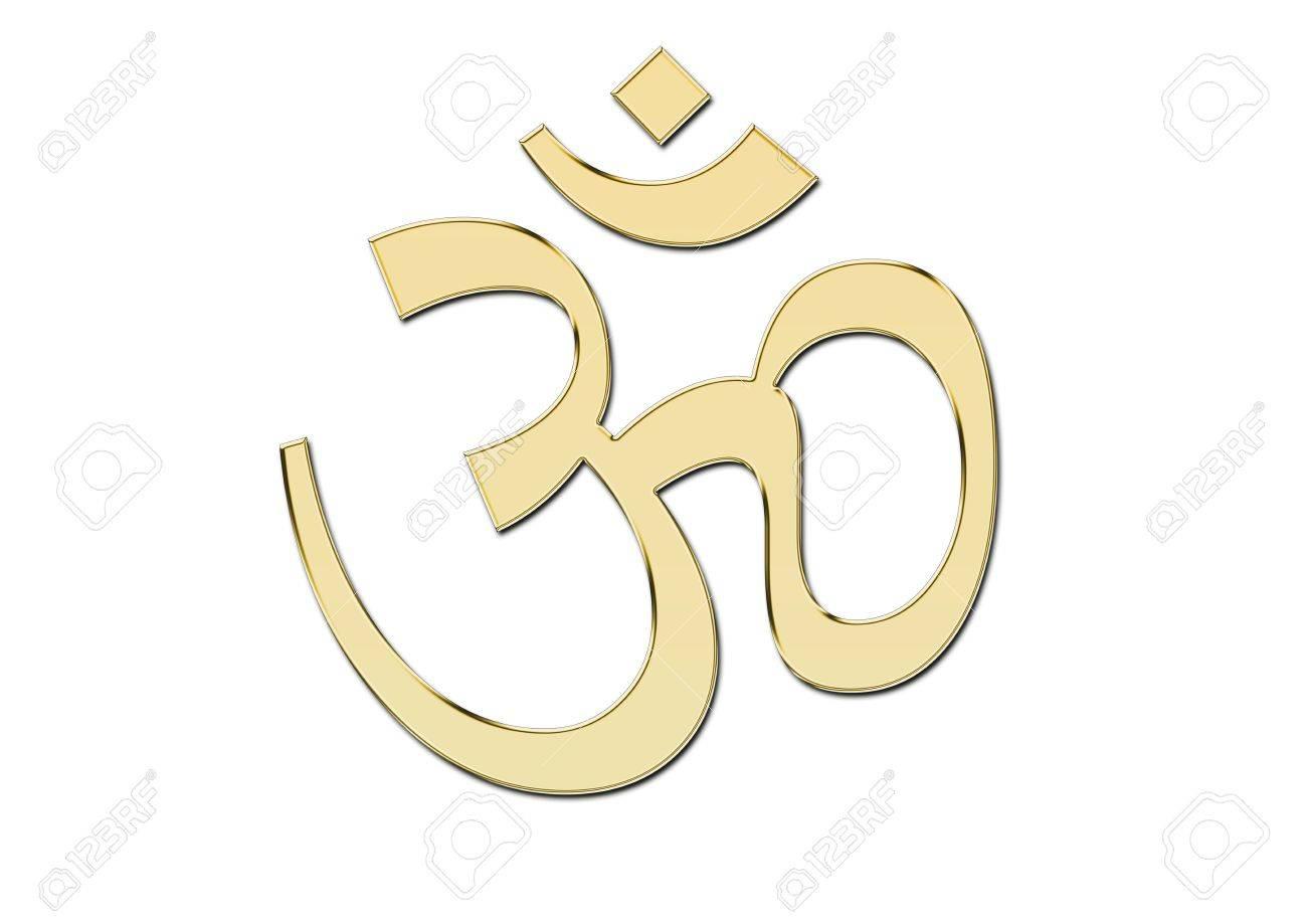OM symbol in glod Stock Photo - 6974434