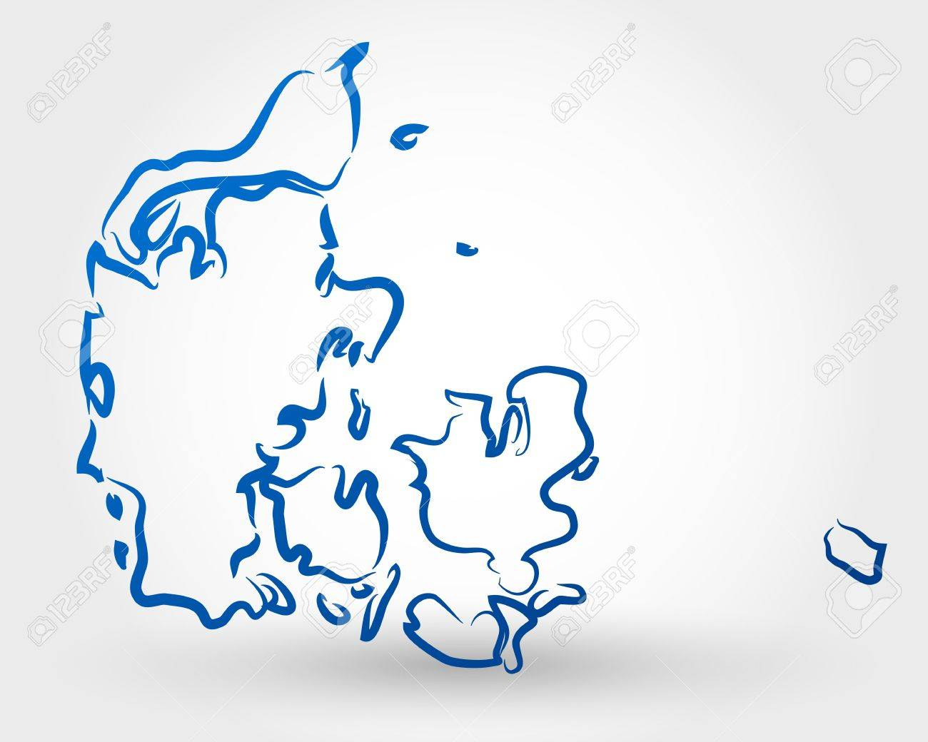 map of denmark map concept royalty free cliparts vectors and