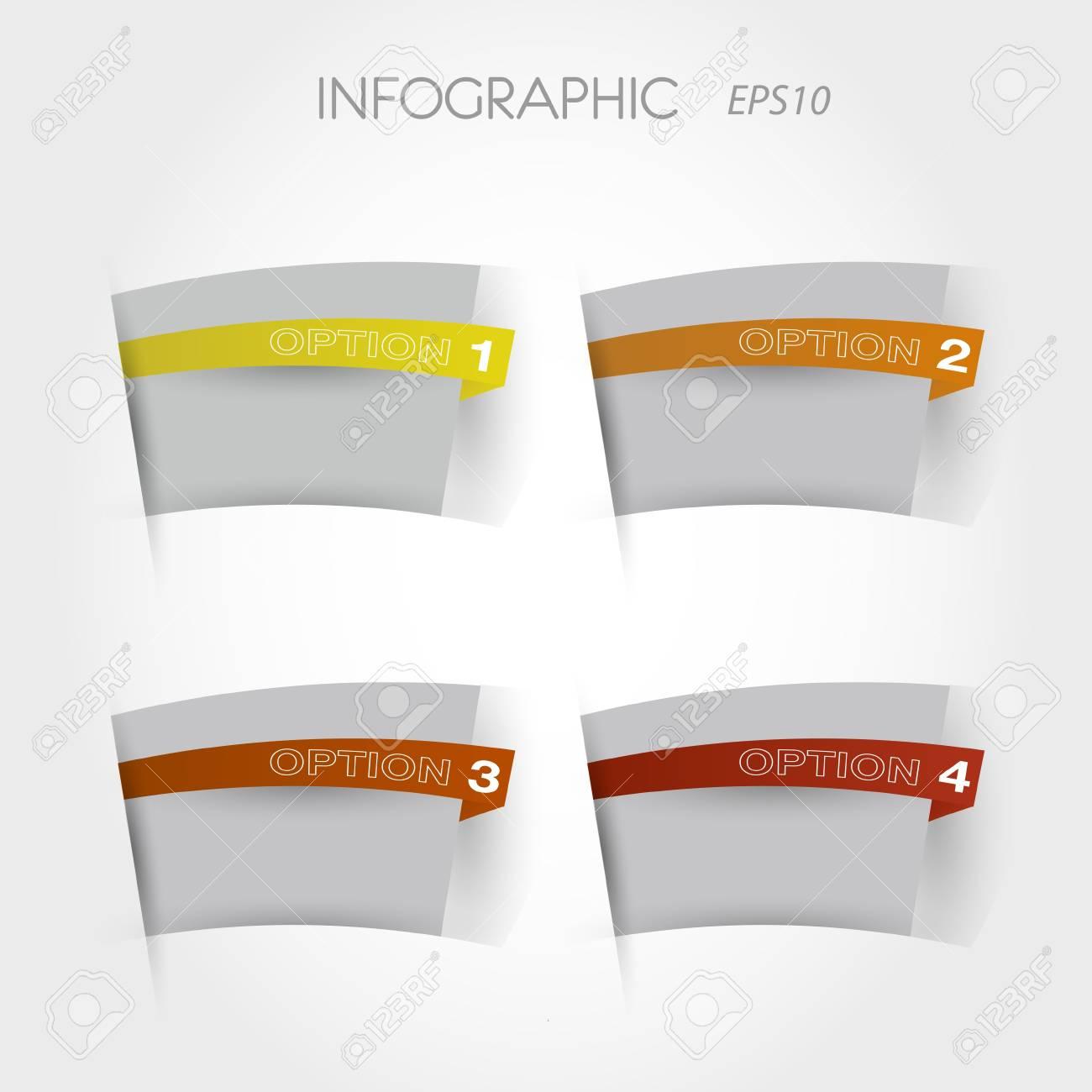 orange arc options. infographic concept. Stock Vector - 20135853