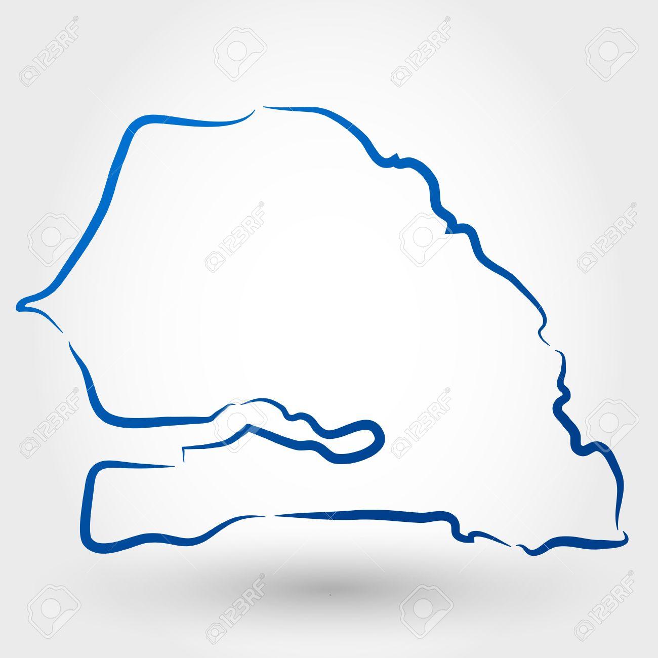 Map Of Senegal Map Concept Royalty Free Cliparts Vectors And - Senegal map vector