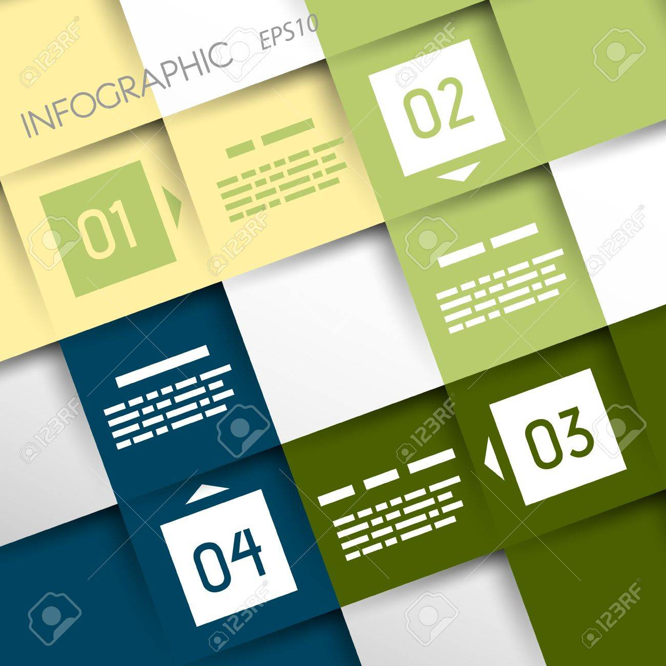 square infographic four options T shape  infographic concept Stock Vector - 20136022
