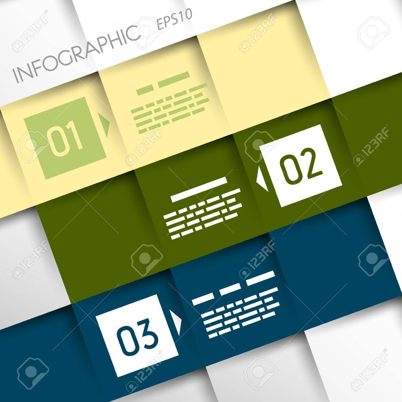 square inforgraphic three oblique options  infographic concept Stock Vector - 20135996