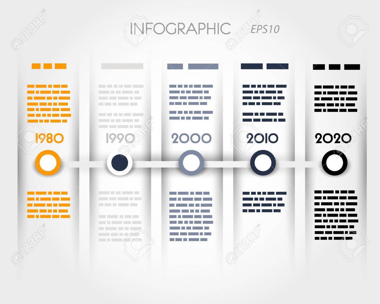 Farbe Timeline Mit Ringen Ein Säulen Konzept Infografik Standard Bild    22288944