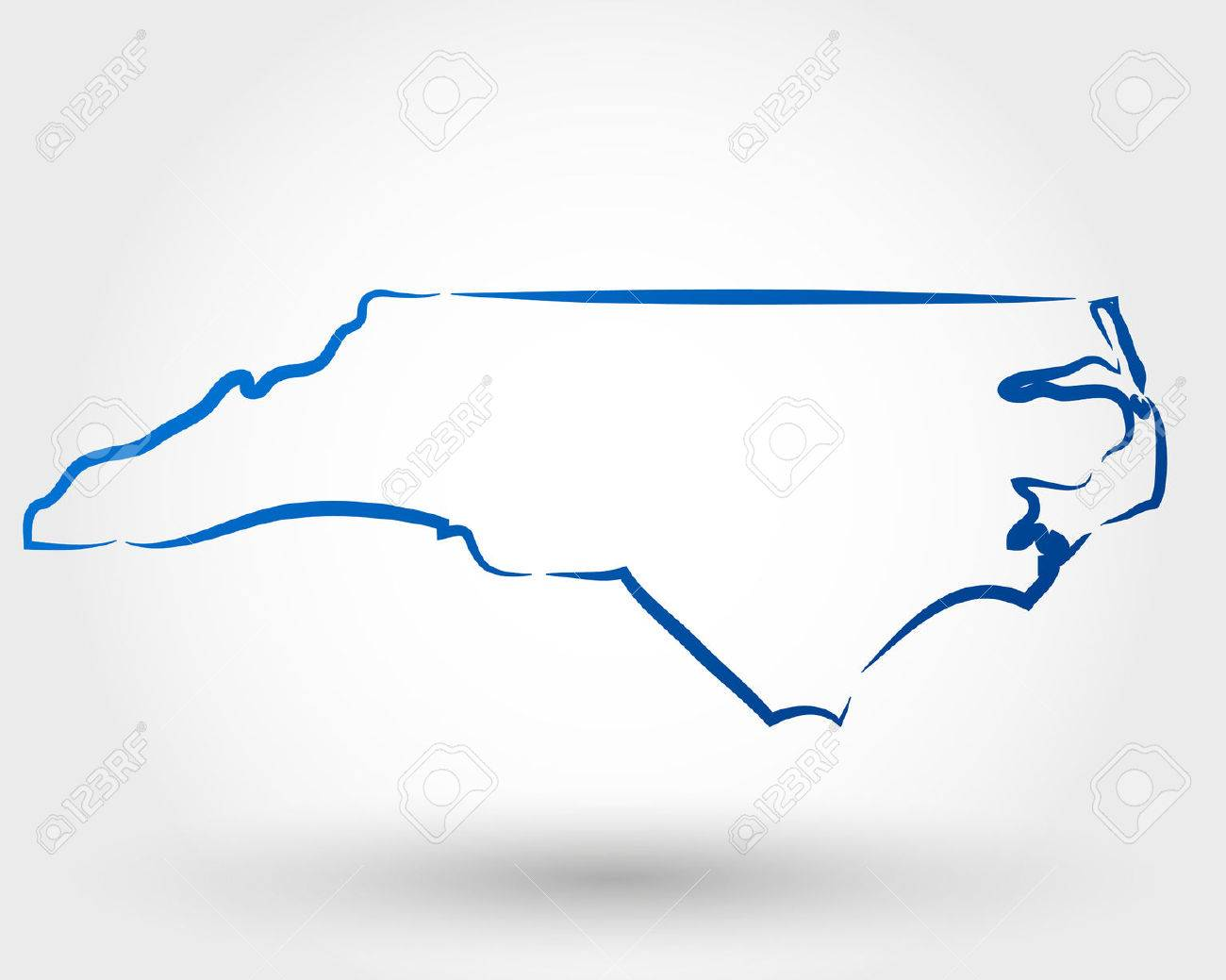 Map Of North Carolina Map Concept Royalty Free Cliparts Vectors - Where is nc on the us map