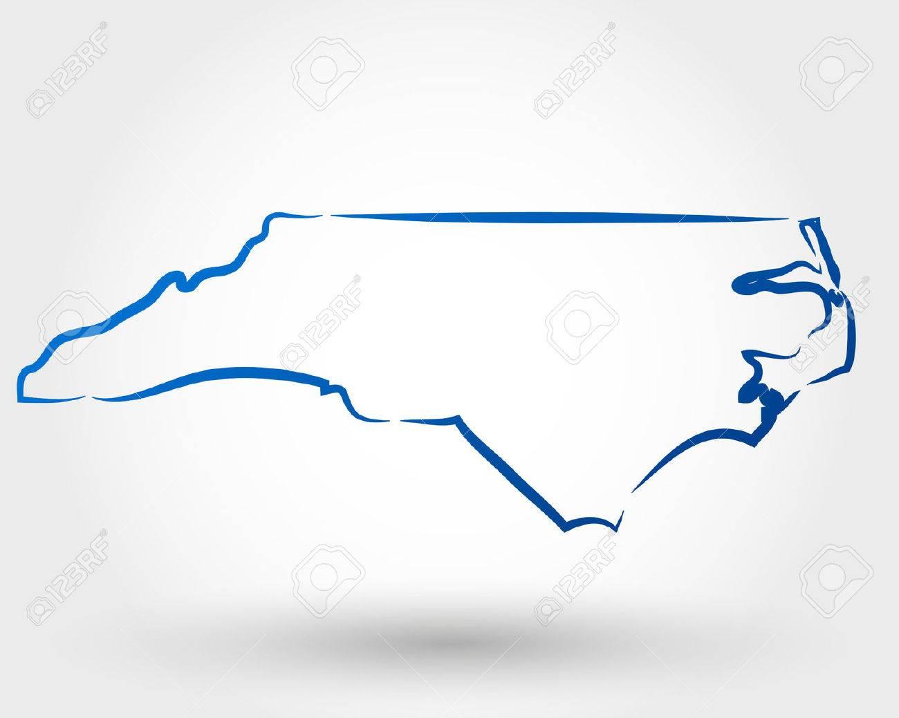 Map Of North Carolina Map Concept Royalty Free Cliparts Vectors - North carolin map